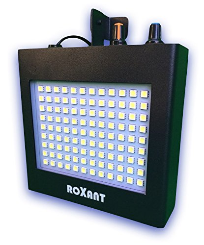 Roxant Pulse Strobe Light With 108 Super-Bright Mini LEDs With Auto Sound Activated Mode OR Adjustable Flash Speed Control