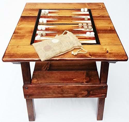 Amazon Com Backgammon Game Wood Table Indoor Outdoor