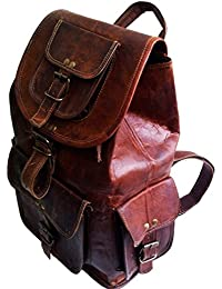 NK Vintage Leather Brown Backpack Bag