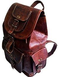 NK Vintage Leather Brown Backpack Bag