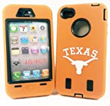 Texas Longhorns IPhone 4/4S Armored Core Defender Case - Fast Shipping from USA Warehouse