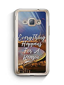 YuBingo Everything Happens For A Reason Designer Mobile Case Back Cover for Samsung Galaxy J1 2016