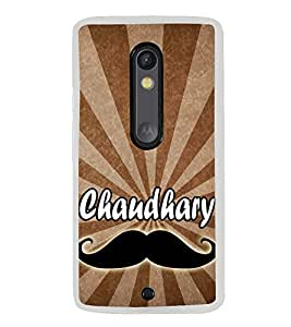 Chaudhary 2D Hard Polycarbonate Designer Back Case Cover for Motorola Moto X Style :: Moto X Pure Edition