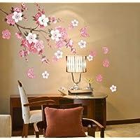 Plum Blossom Flowers Butterfly Wall D…