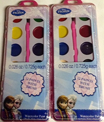Disney Frozen 12 Paints with Brush, (2)-Pack