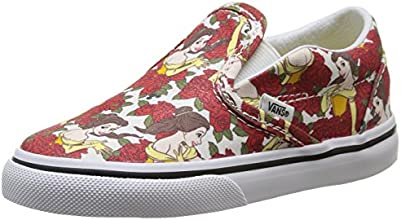 Vans U Classic Slip-On Disney, Sneakers Basses mixte enfant - Gris (disney/belle/true White) - EU 21 (UK 4.5 / US 5)