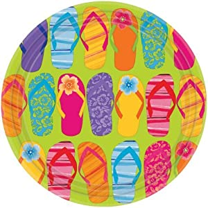 Click to buy Flip Flop Dinner Plates 8ctfrom Amazon!