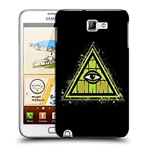 Snoogg Triangle Eye Designer Protective Back Case Cover For Samsung Galaxy Note 1