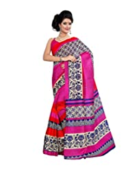 Anu Designer Self Print Saree (6405B_Multi-Coloured)