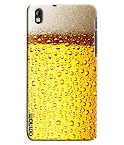 Omnam Beer Glass Effect Printed Designer Back Cover Case For HTC Desire 816