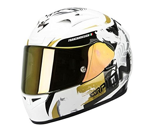 Casque de moto SCORPION EXO 710 Cerberus or blanc