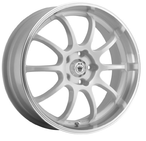 51ra52JftwL Konig Lightning White Wheel with Machined Lip (16x7/4x100mm)