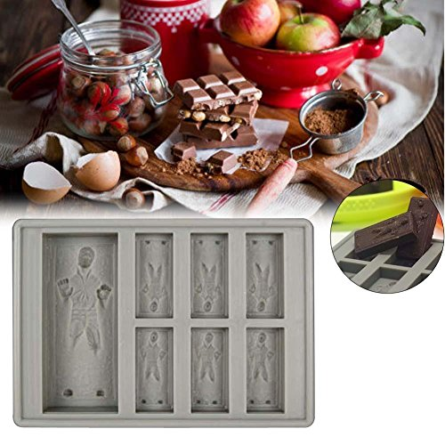 Star Wars Silicone Ice Tray Mold Ice Cube Tray Chocolate Pudding DIY Han Solo LN (Han Solo Fridge Cover compare prices)