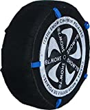 Chaussette neige textile pneu 225/55R19 excellente protection de la jante - Valise comprenant 2 chaines textile et 1 paire de gants...