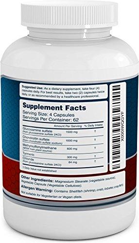 Glucosamine-Chondroitin-MSM-Turmeric-Dietary-Supplement-250-Capsules