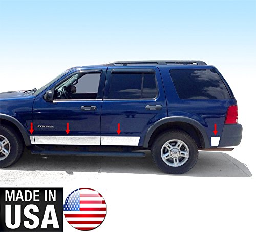 Made In USA! TYGER Ford Rocker Panel Trim Fit 02-05 Explorer XLS 4Door With Fender Flare 5-5 1/2'' Wide 8PC (2002 Ford Explorer Rocker Panels compare prices)