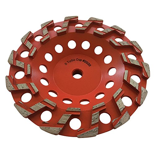 "7"" Aggressive Grinding Wheel #20/25 Diamond 5/8""-11 Arbor for Concrete and Paint, Epoxy, Mastic, Coating Removal"