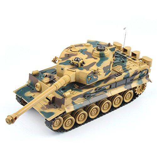 GizmoVine-RC-Panzer-German-Tiger-128-Mastab-Ferngesteuertes-Kampfpanzer-Spielzeug-Tank-fr-Kinder-Jungs-40Mhz-Tarnung