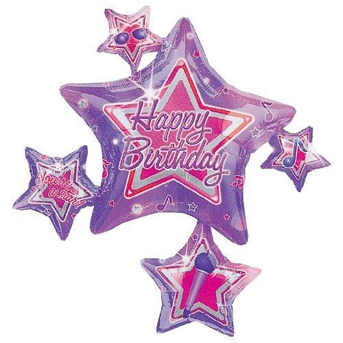 """Rock Star Birthday Connext 35"""" Mylar Balloon"""
