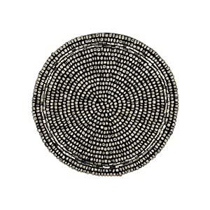 tea coaster silver beaded placemat home decorations indian