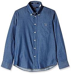 Gant Boys' Shirt (GBSFF0019_Dark Navy_XL)