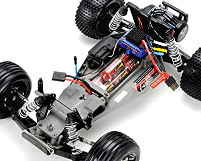 Traxxas 37076-3 1/10 Rustler VXL RTR Vehicle with Stability, Colors Vary