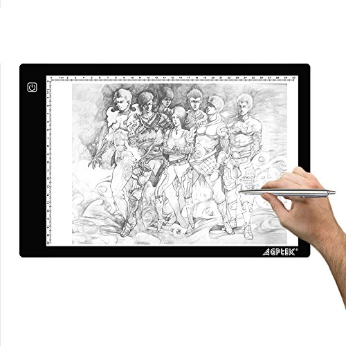 AGPtek-945X1417-Inch-LED-Artcraft-Tracing-Light-Pad-A4-size-Light-Box-Ultra-thin-USB-Power-Cable-Dimmable-Brightness-Tatoo-Pad-Aniamtion-Sketching-Designing-Stencilling