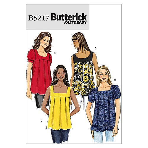 Butterick Patterns B5217 Misses' Top, Size F5 (16-18-20-22-24)