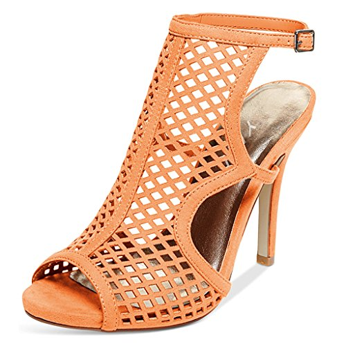 YDN Hollow-Out Sandals for Women Stilettos Peep Toe Slingback High Heels Shoes Size 13