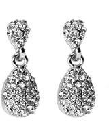 Demarkt Elégante Boucle d'Oreille des Diamants Brillant pour les Femmes - Couleur Blanc