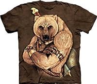 Tribal Bear - Bär als indianischer Krieger - T-Shirt in Erwachsenengröße L von The Mountain