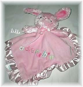 Carter's Pink Adorable Security Blanket Lovey Bunny Rabbit Girls
