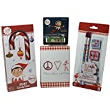 The Elf On The Shelf Stationery Set With White Notepad And Candy Cane & Lip Balm Bundle Of 4