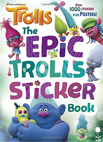 The-Epic-Trolls-Sticker-Book-DreamWorks-Trolls-4-Color-Plus-1000-Stickers