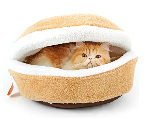 Kisspet® Hamburger Design Washable Pet Bed Soft Dog House Cotton Cat Sleeping Bag(size L)