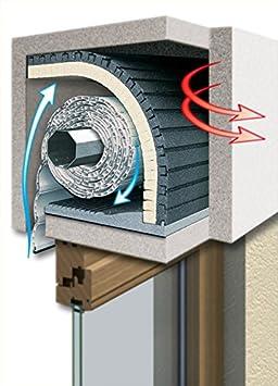 schellenberg 66251 isolation de caisson du volet roulant 100 x 50 cm paisseur du mat riau. Black Bedroom Furniture Sets. Home Design Ideas