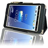 Asus MeMo Pad HD 7 (ME173X) HD7 Multi-Angle 'Pen' Case with 2 in 1 Stylus / Biro Pen by LuvTab® (Black)