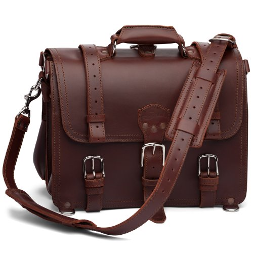 Only the highest quality furniture, luggage, and footwear often features full-grain leather, and it develops a beautiful patina over time. The popular natural leather that Tanner Goods uses is a full-grain tooling leather.