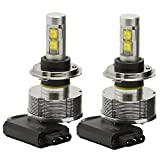 CREE 9003/HB2/H4 High Low Beam LED Headlight Conversion Kit - 2 pcs H4 LED Headlight Bulbs w/ 2 Installation Cables - 30W 3000LM Each - Daylight 6000K Waterproof IP-68 for Replacing Halogen & HID Bulbs