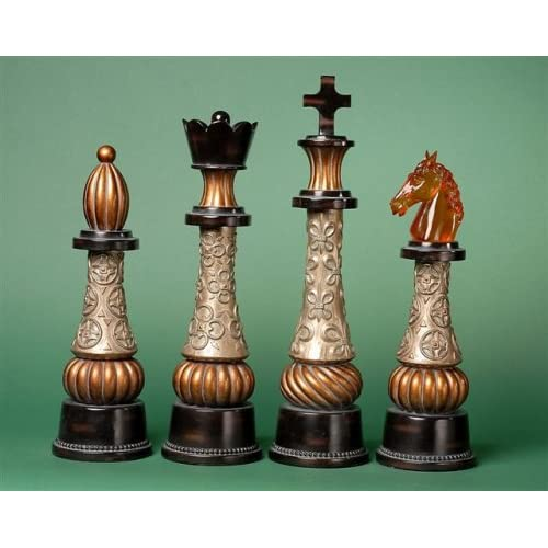 Fancy Chess Piece Statue Set