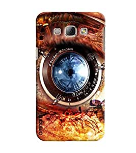 Omnam Camera Lens With Fire Effect Photoshop Printed Designer Back Cover Case For Samsung Galaxy A8