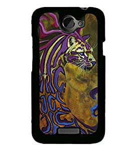 Cheetah 2D Hard Polycarbonate Designer Back Case Cover for HTC One X :: HTC One X+ :: HTC One X Plus :: HTC One XT