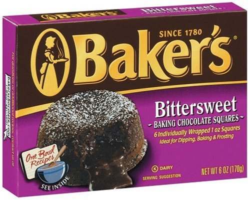 Buy Baker's Bittersweet Chocolate, 6-Ounce Boxes (Pack of 12) (Baker's, Health & Personal Care, Products, Food & Snacks, Baking Supplies, Baking Chocolate)