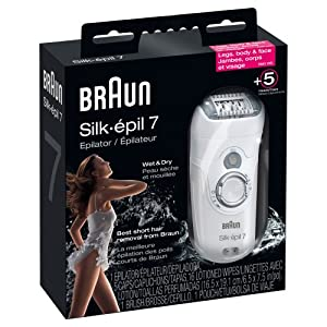 Braun SE7681 Silk-épil 7 Wet and Dry Epilator, White