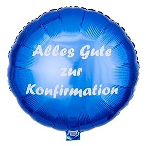 ballongruesse ballon alles gute zur konfirmation blau. Black Bedroom Furniture Sets. Home Design Ideas