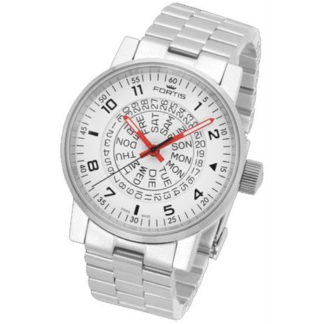 Fortis montre homme Spacematic Classic White-Red automatique 623.10.52 M