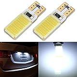 Audew 2 Stk.T10 921 W5W 194 COB LED Auto Innenbeleuchtung Standlicht R�cklicht KFZ Kennzeichen T�rleuchte Wei� 12V f�r Benz BMW