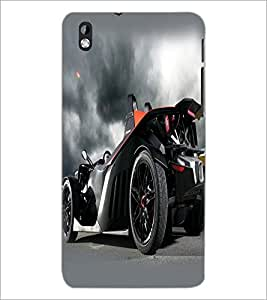 PrintDhaba Car D-2328 Back Case Cover for HTC DESIRE 816 (Multi-Coloured)