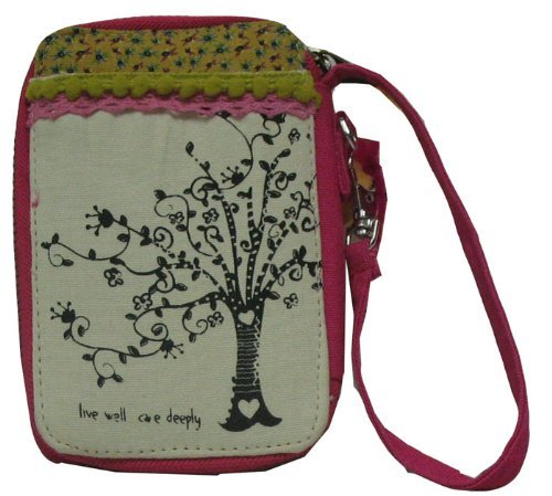 Natural Life Live Well Care Deeply Wristlet Mini Wallet W/Id Window