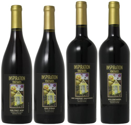 Inspiration Vineyard Sonoma County Red Wines Mixed Pack, 4 X 750 Ml